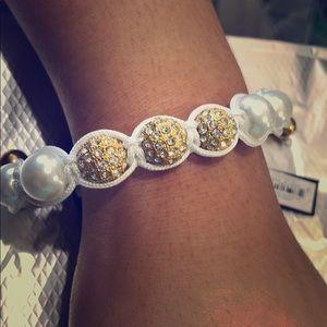 White Twine Adjustable Bracelet